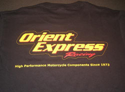 Orient Express - Apparel - Logo T-Shirt - TRIPLE XTRA LARGE - Black/Gildan Ultra Cotton/Logo's Front & Rear
