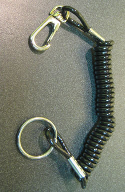Heavy Duty Tether Cord - AMA Legal/Nylon Reinforced Cord/Black Polyurethane Coiled Jacket/Fits Any Brand Kill Switch