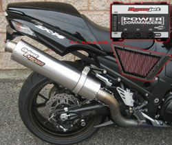 Performance Package Orient Express Titanium Exhaust Power Commander V K&N Filter Kawasaki ZX 14 ZZR 1400 Ninja 2006 2011