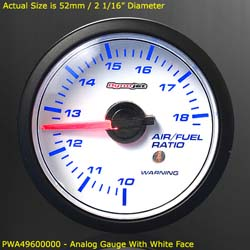 Dynojet - Wideband Commander 1 - Exhaust Air/Fuel Ratio Sensor - White/Black Gauge Included