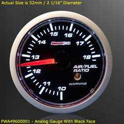 Dynojet - Wideband Commander 2 - Gauge Kit Only/52mm Analog Gauge/Black Face/Requires Wideband Commander 2 Base Unit!!!