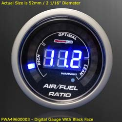 Dynojet - Wideband Commander 2 - Gauge Kit Only/52mm Digital Gauge/Black Face/Requires Wideband Commander 2 Base Unit!!!