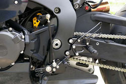 Sato Racing Rear Sets Honda CBR 1000RR 2008 2015 Non-ABS Models 12 Positions Standard Or Reverse Shift Black Anodized
