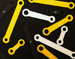 Sato Racing - Universal Bracket - 25mm Long /Two 6mm Holes/Billet Aluminum/Gold Anodized/Adjustable