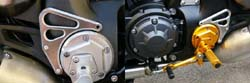 Sato Racing Heel Guards Yamaha VMX 1700 V Max 2009 2011 Protects Against Boot Marks Gold Anodized