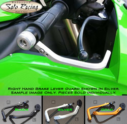 Sato Racing Brake Lever Guard Right Side Protector M6 Thread Billet Aluminum Silver Anodized