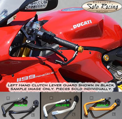 Sato Racing Clutch Lever Guard M8 Left Side Gold Anodized