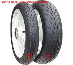 Shinko Tires - Rear Tire/Reactor Drag Slick/Ultra Soft Compound/26x7-17