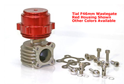 Tial Sport - F46mm Wastegate/Flange Connector/Clear-Silver Anodized