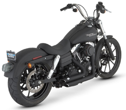 Vance & Hines - Shortshots Staggered Black Exhaust