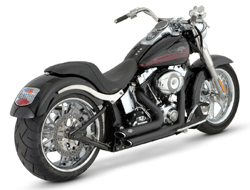 Vance & Hines - Sideshots Staggered Black Exhaust