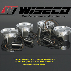 Wiseco Piston Kit Suzuki GSX 1300R Hayabusa 2008-2013 84mm +3mm Bore 13.5:1 1441cc Flat Top
