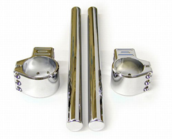 Yana Shiki - 43mm Clip On - Universal - 2 Piece Design/CNC Machined Billet Clamp/Chrome Plated/ 7/8