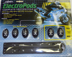 Yana Shiki - Sport Bike LED Electropod Kit - Six Black Oval Housings With Six Yellow LED's Each/Two Black Strips With Six Linear Yellow LED's Each