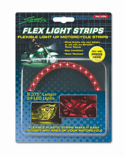 Yana Shiki - LED Flex Light Strip - 24 Red LED's In Flexible Housing/9.375