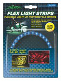 Yana Shiki - LED Flex Light Strip - 24 Blue LED's In Flexible Housing/9.375