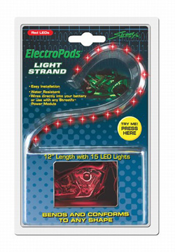 Yana Shiki - LED Flex Light Strand - 15 Red LED's In Flexible Housing/12