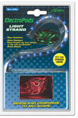Yana Shiki - LED Flex Light Strand - 15 Blue LED's In Flexible Housing/12