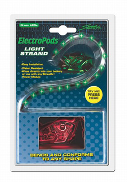 Yana Shiki - LED Flex Light Strand - 15 Green LED's In Flexible Housing/12