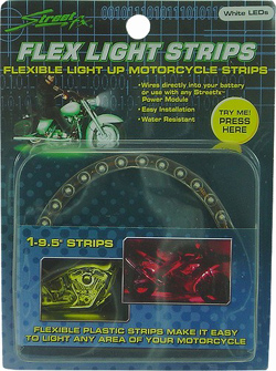 Yana Shiki - LED Flex Light Strip - 24 Purple LED's In Flexible Housing/9.375