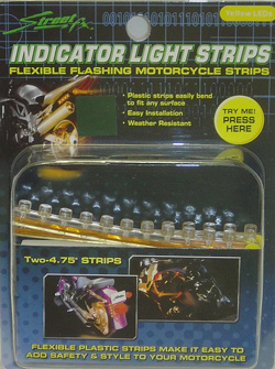 Yana Shiki - LED Signal Light Strips - 12 Amber LED's In Flexible Housing/4.75