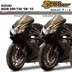 Zero Gravity SR Windscreen Suzuki GSX-R 600 750 2008 2010 Stock Replacement Dark Smoke Optically Correct Pre Drilled