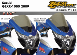 Zero Gravity SR Windscreen Suzuki GSX-R 1000 2009 2014 Stock Replacement Dark Smoke Optically Correct Pre Drilled