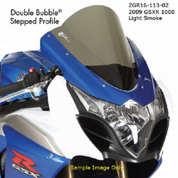 Zero Gravity Double Bubble Windscreen Suzuki GSXR 1000 2009 2014 Light Smoke Optically Correct Pre Drilled