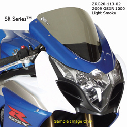 Zero Gravity SR Windscreen Suzuki GSXR 1000 2009 2014 Stock Replacement Light Smoke Optically Correct Pre Drilled