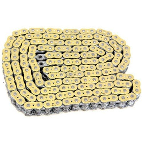 EK Chain - Drive Chain - 530 ZZZ/150 Links/Gold Metallic Side Plates/X-Ring Chain/11,100 Tensile/ZST Zero Stretch Technology