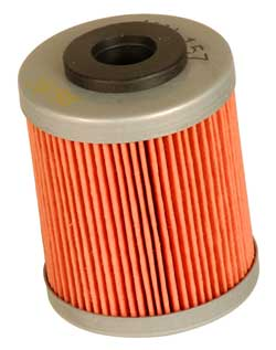 K&N Engineering - High Performance Oil Filter - KTM OEM #590-3804-6144/Polaris OEM #2520755/Many Models/See Application Chart Inside/Cartridge Style