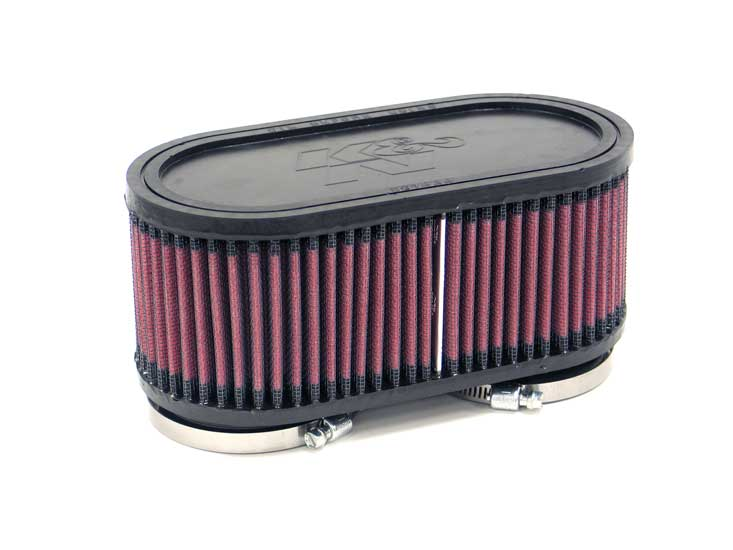 K&N Engineering - High Performance Air Filter - Universal - Oval Straight Element/Dual Straight Flanges/7.373 x 3.625 x 3