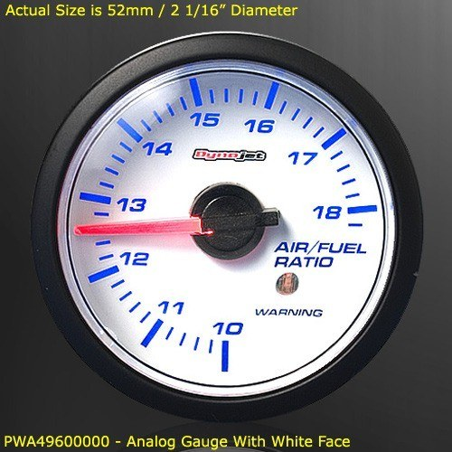 Dynojet - Wideband Commander 2 - Gauge Kit Only/52mm Analog Gauge/White Face/Requires Wideband Commander 2 Base Unit!!!