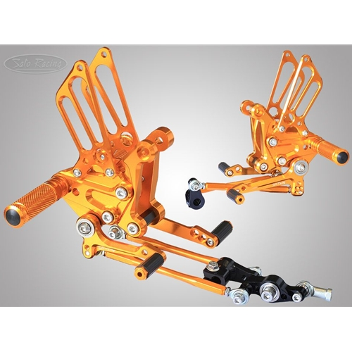 Sato Racing Rear Sets - #MV-F410RS-GD F4 1000 Models 10-14/Standard Shift Only/9 Positions Including Stock/Gold Anodized
