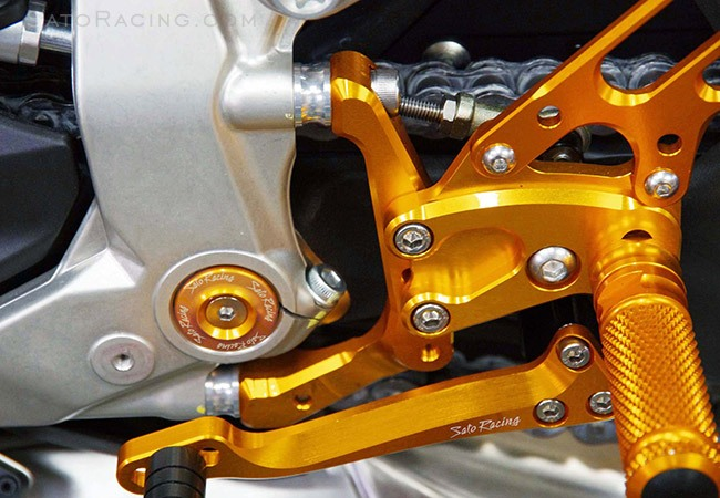 Sato Racing Rear Sets - #D-1199RS-CLR 1199 Panigale 12-14 Rear Set Adjustable Spacer Set