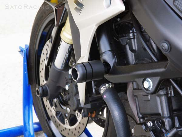 Sato Racing Frame Sliders - #S-GSR750FS-BK GSR750 11-16/GSXS750 15-16 Frame Sliders Black