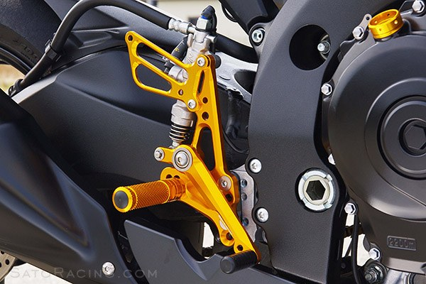 Sato Racing Rear Sets - #S-GSX611RS-BK GSXR600/750 11-18 Rear Sets Black
