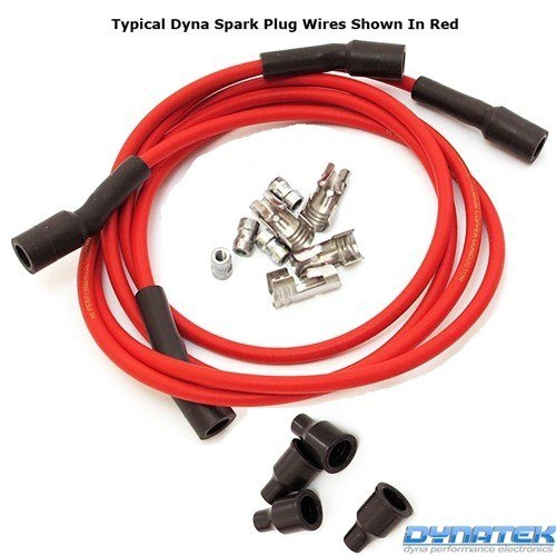 Dynatek Spark Plug Wires Red Silicone Jacketed 7mm
