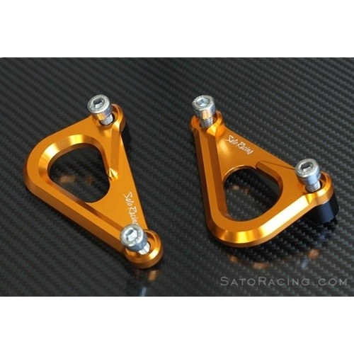 Sato Racing Racing Hooks - #MV-F4HOOK-GD F4 1000 Models 10-14/Tie Down Points/Pair/Eliminates Passenger Pegs/Anodized Gold