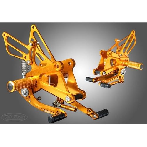Sato Racing Rear Sets - #H-C250RS-GD CBR 250R 11-12/Standard Shift Only/5 Positions/Gold Anodized