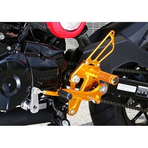 Sato Racing Rear Sets Honda MSX 125AC Grom 2014 CNC Machined Billet Aluminum Fully Adjustable