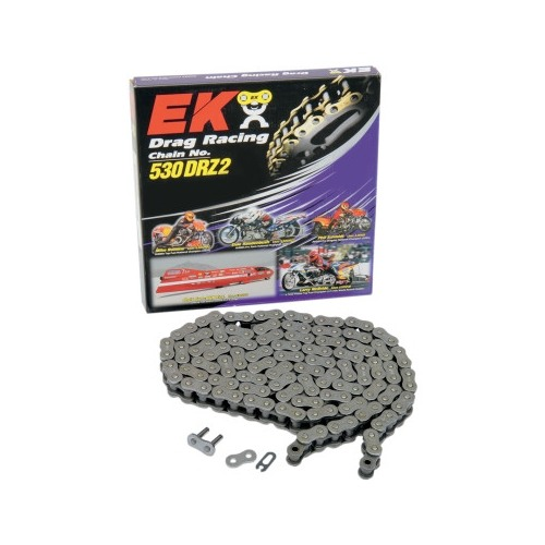 EK Chain DRZ-2 530 Pitch 120 Links Non O-Ring Pro Stock Drag Racing 11,500 Tensile Strength