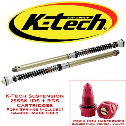 K-Tech Suspension 25SSK IDS Fork Cartridges Triumph Daytona 675R 2011 2012 Ohlins Forks Includes Springs