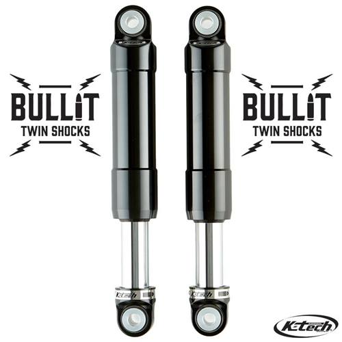K-Tech Suspension Bullit Twin Shocks Triumph Street Twin 2016 Black On Chrome Nitrogen Pressurized Forged Aluminum