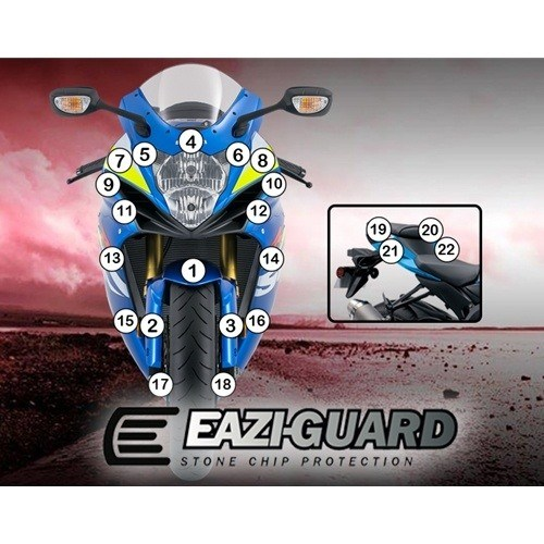 Eazi-Guard Self-Healing Kit - #GUARDSUZ001 GSXR600 11-18/GSXR750 11-18 Self-Healing Paint Protection Kit