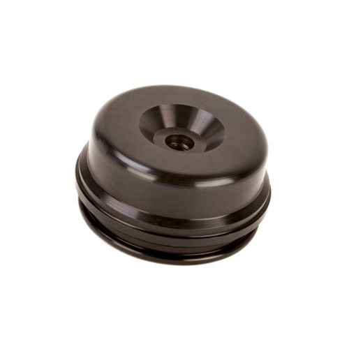 K-Tech Suspension Extended Reservoir Cap - #211-200-150 RCU Res End Cap Showa 50x9.00mm Black KX250F (Needs Valve)