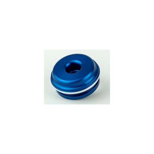 K-Tech Suspension Extended Reservoir Cap - #211-200-275 RCU Res End Cap KYB 52x22mm Blue YZF 10>(Includes  Valve)