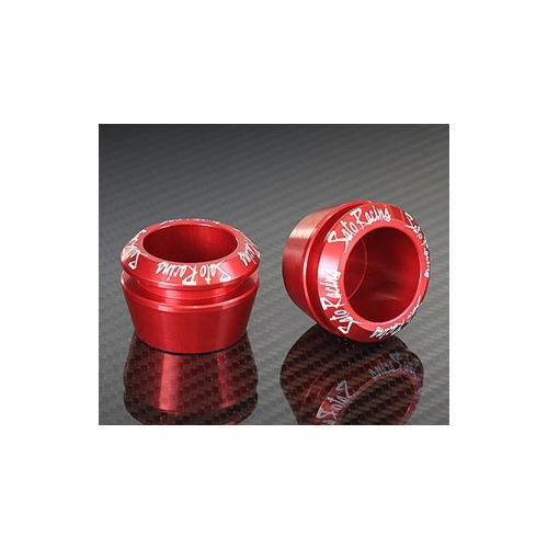 Sato Racing Axle Cap - #AXCAP-RD Grom/Z125 Pro 14-18 10-12mm Diameter Axle Cap Red