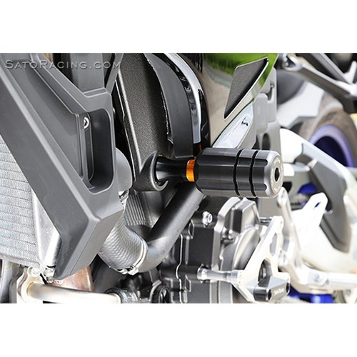 Sato Racing Frame Sliders - #K-ZX14RFS-BK ZX14R 12-18 Frame Sliders Black