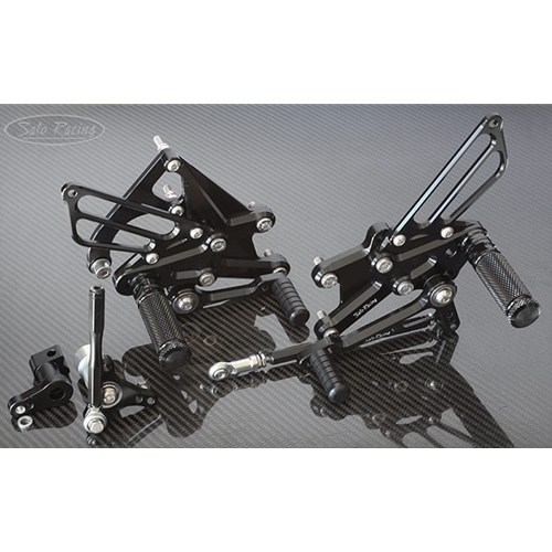 Sato Racing Rear Sets - #H-CBR117RS-BK CBR1000RR 17-18 Black Anodized